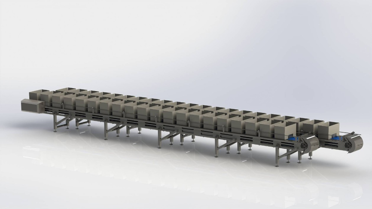 Step conveyor with modular belt